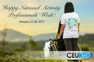 Recognition: National Activity Professionals' Week 2017