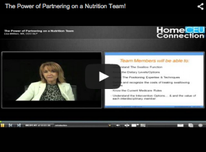 The Power of Partnering on a Nutrition Team!